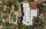 Private acre lot..Aerial view.