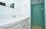 Vintage tile in guest house bathroom.