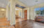 Formal Living room with amazing top quality hardwood floors.