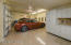 Oversized 2.5 car garage with built-in storage