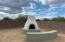 Kiva fire pit and bench. Great sky views and a peak-a-boo mountain view