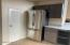 French door fridge and pantry entry