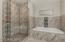 Real stone shower floor and Jacuzzi tub