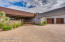 Gated Courtyard and 3 Car Extended Garage with Workshop Area