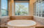 Soaking tub in master