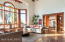 Beautiful Saltillo Tile in great room & kitchen
