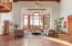 Large bay window brings in natural light