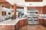 Gas range w/hood, 2 ovens & Tile counter tops