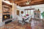 Dining Area off kitchen w/stone fireplace