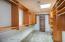 Built-In organizational shelving
