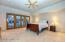 Large master suite.