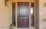 Mesquite chiseled front door
