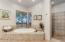 Master suite garden tub & walk in shower