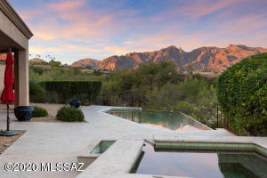 2006 custom home on 2.15 acre lot with incredible views of the Catalina Mountains.
