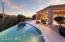 Very private outdoor space with infinity edge pool
