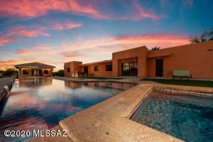 75'X20' Heated,Salt Water Lap Pool, Pop up Cleaning System plus 8'X8' SPA, Outdoor BBQ for pool parties BOTH main home and casita is wired for home automation.