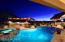 Saltwater pool, spa, grill, bar, dining area, beautiful pavers & city lights!