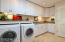 Large pantry and laundry room. Bosh washer and dryer convey.