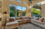 Inviting, spacious family room.