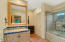 Jack and Jill bathroom with direct access from bedroom #3 and #4.