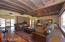 Custom wood ceilings with beams.
