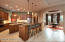 Custom Painted Tile Mural Backsplash & huge walk in pantry w/shelving