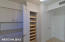 Pantry with rollout shelves