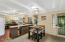 Open floorplan merges together kitchen and dining room