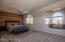 You will absolutely love this massive updated owner's suite with fresh paint, ceiling fans, fabulous wood accent wall, new carpet, bay window with seating and views, views, views!!