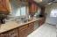 Granite counters, tile backsplash