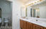 Private master bath with walk in shower double lavs