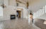 Soaring ceilings and brand new flooring