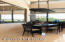 Formal dining with views of the Sunset Patio