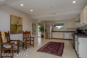 Very open kitchen! Notice the beautiful gray concrete floors.