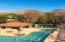 Aerial shot of the main pool.