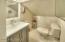 Upstairs 1/2 bathroom for BR #2 (on floorplan) added 2020