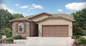 Rendering of exterior, actual home will have garage on Left.