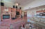 Great entertaining house! Full media wall with endless options and fireplace.