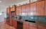 Clean, crisp slab front cabinetry.