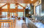 Open floor plan, kitchen, dining, and living room