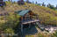 Drone picture of outside the cabin
