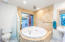 Massive round jetted tub with private mountain views!