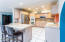 Recessed lighting, modern hickory cabinets