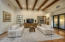 Family Room with Open Beamed Ceiling