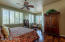 Ceiling Fan and Plantation Shutters