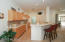 Convenient access from kitchen to dining.
