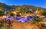 Relaxing Pool and Spa with Lighting Features, Overlooking Expansive Desert Mountain Views