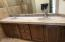 dual sinks, stone counter tops