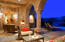 Romantic patio fireplace off master suite.