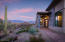 Desert plantings and mountain views greet you at the front door.